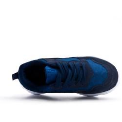 Basket fille bleu à lacet
