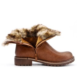 Camel boot with stuffed upper
