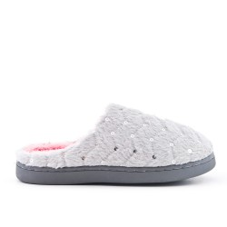 Filled woman's slipper with rhinestones