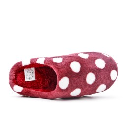 Women's lined slipper with pea pattern