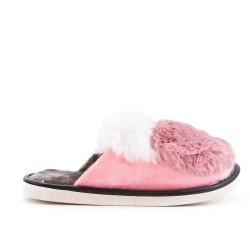Women's bi-colored pampered slipper