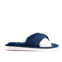 Women's bi-colored pampered slipper