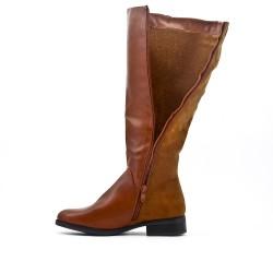 Bi-material camel boot