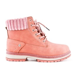 Pink boot with lace