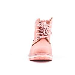 Bota rosa con encaje