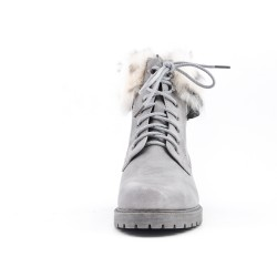 Gray boot with lace