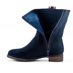 Bota de gamuza azul