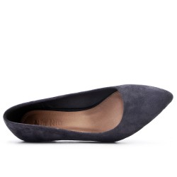 Gris suede leather pumps with heels