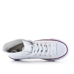 Zapato tenis de lona blanco