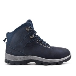 Blue lace up comfort boot
