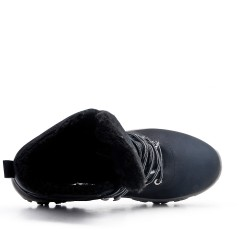 Botas con cordones negras para comodidad