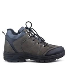 Chaussure sport grise à lacet