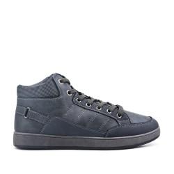 Gray sneaker in faux leather