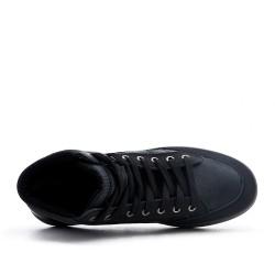 Black sneaker in faux leather
