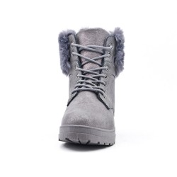 Ankle boot with gray lace