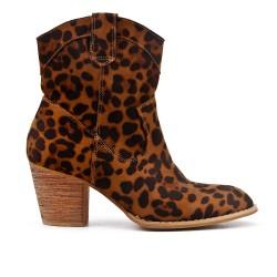 Botte léopard à talon