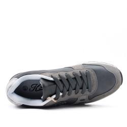 Basket basse grise à lacet