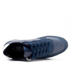 Basket basse bleu à lacet