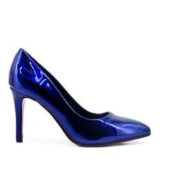 Blue high heel pump
