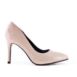 Pink high heel pump