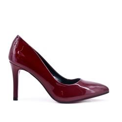 Red wine high heel pump