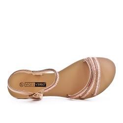 Large size - champagne rhinestone sandal