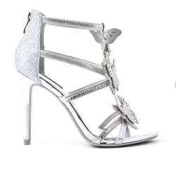 Silver butterfly sandal