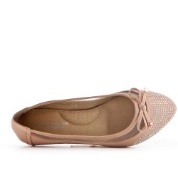 Beige ballerina with bow