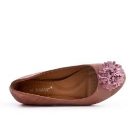 Bailarina rosa confort con estampado de flores