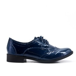 Derby in blue lacquer
