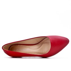 Escarpin rouge en simili cuir