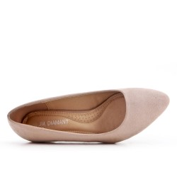 Zapatos de tacón de ante beige con tacón