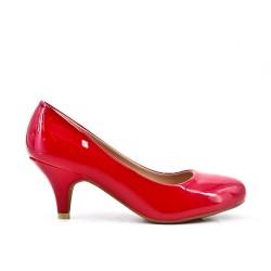 Red high heel pump