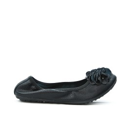 Comfort black ballerina in large size