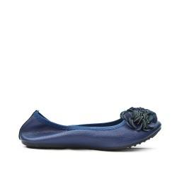 Ballerine bleu confort en grande taille