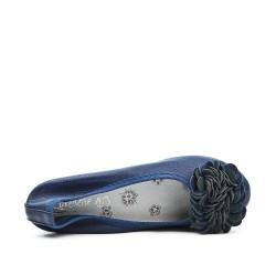Grande taille - Ballerine bleu confort