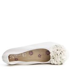 Grande taille - Ballerine blanc confort