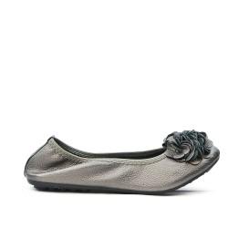 Ballerine grise confort en grande taille