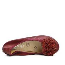 Comfort burgundy ballerina in large size