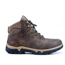 Chaussure sport marron à lacet