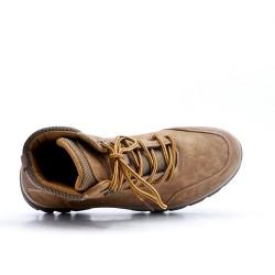 Zapato con cordones beige