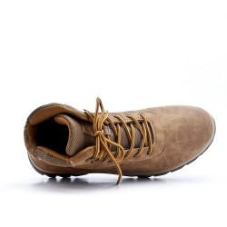 Chaussure sport beige à lacet