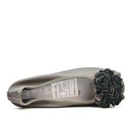Bailarina de confort gris con estampado de flores