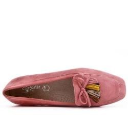 Big size 39-43 - Pink loafer with pompom