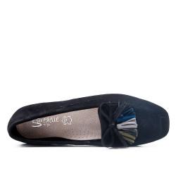 Big size 39-43 - Black loafer with pompom