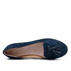Big size 38-43 - Navy loafer with pompom