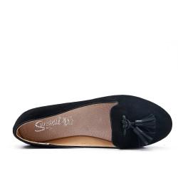 Big size 38-43 - Black loafer with pompom