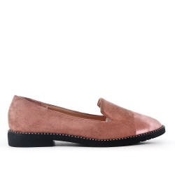 Big size 38-43 - Pink moccasin in faux suede