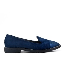 Big size 38-43 - Navy moccasin in faux suede