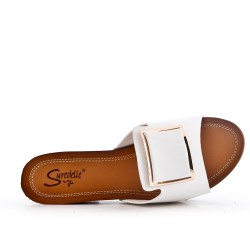 Big size 38-43 - White sling with heel